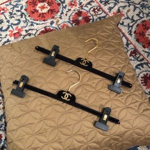 2 CHANEL Authentic Velvet Pants & Skirt Hangers